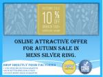 Online Attractive offer for Autumn sale in Mens silver ring.