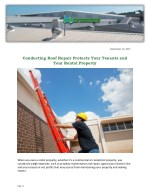 Conducting Roof Repair Protects Your Tenants and Your Rental Property