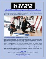 A Certified Personal Trainer Singapore— Your Personal Motivator