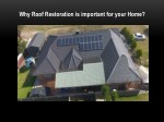 Why Roof Restoration is important for your Home?