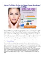 Derma ProMedics Review: Anti Aging Cream, Benefits and Free Trial Offer