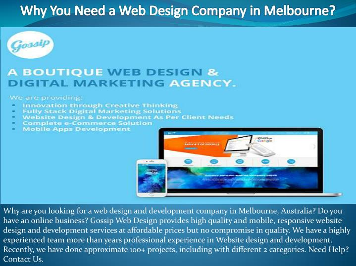 why you need a web design company in melbourne n.