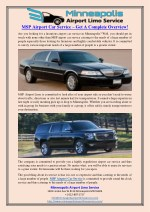 MSP Airport Car Service – Get A Complete Overview!