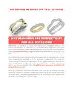 Why diamonds Are Perfect gift For All Occasions