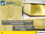 How I Passed a Palo Alto Networks Pcnse7 Certification Exam?