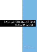 CISCO SWITCH CATALYST 3650 SERIES DATASHEET