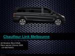Limo Airport Transfer Melbourne