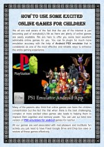How to Use Some Excited Online Games for Children