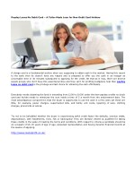 Payday Loans No Debit Card – A Tailor-Made Loan for Non-Debit Card Holders