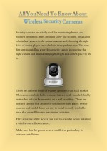 All You Need To Know About Wireless Security Cameras