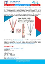 Heat Shrinkable Cable Termination Kits Manufacturers
