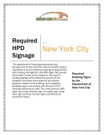 HPD Signs NYC