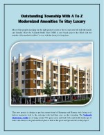 Outstanding Township With A To Z Modernized Amenities To Stay Luxury