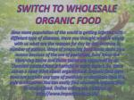 Switch to Wholesale Organic Food