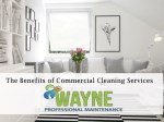 The Benefit Of Commercial Cleaning Services