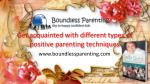 Get different types of positive parenting techniques