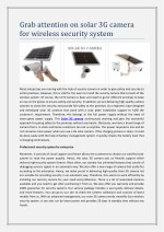 Grab attention on solar 3G camera for wireless security system