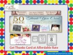 Get Thanks Card at Affordable Rate