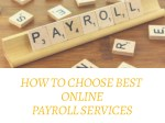 Tips to Choose Best Online Payroll Services