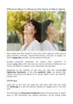 Effective Ways to Reverse the Signs of Neck Aging