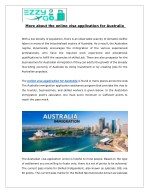 More about the online visa application for Australia