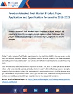 Powder Actuated Tool Market Major Trends, Market Driving Factors and Challenges by 2021