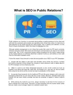 What is SEO in Public Relations