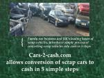 Scrap Cars to Cash in 5 Simple Steps