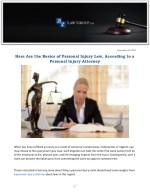 Here Are the Basics of Personal Injury Law, According to a Personal Injury Attorney