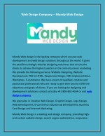 Web Design Company - Mandy Web Design