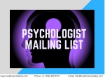 Psychologists Mailing List