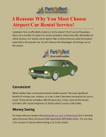 3 REASONS WHY YOU MUST CHOOSE AIRPORT CAR RENTAL SERVICE