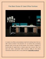 Find Best Choice Of Used Office Furniture
