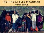 Thousands of Rohingya flee Myanmar violence