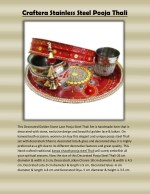 Craftera Stainless Steel Pooja Thali