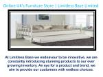 Reasonable Bedroom Furniture Online on Limitless Base Limited