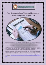 Top Reasons to Seek Taxation Homework Online Assignment help in AUS get the Scores you Wanted!
