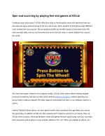 Spin and score big by playing free slot games at GClub