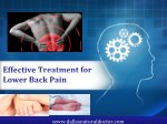 Laser Therapy for Lower Back Pain