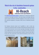 What is the role of aluminium formwork system in the construction