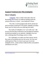 Surgical treatment for piles|Indiapiles
