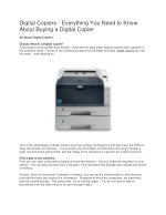 5 Tips When Buying a Copier - Copier Buying Advice