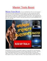 Master Testo Boost - Increases the dimensions, girth, and erections of the phallus