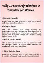 Why Lower Body Workout is Essential for Women