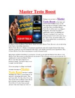Master Testo Boost - Boosts free testosterone levels in the body