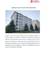 Apartment for rent in Canada - Moncton,Newmarket