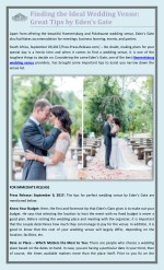 Finding the Ideal Wedding Venue: Great Tips by Eden's Gate