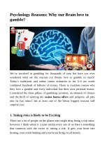 Psychology Reasons: Why our Brain love to gamble?