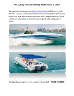 Hire Luxury Yacht and Fishing Boat Rentals in Dubai
