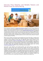 Discover Price Powerful and Reliable Packers and Movers Pune for Home Moving